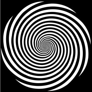 hypnosis spiral bw