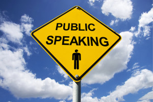Public Speaking Fear Sign